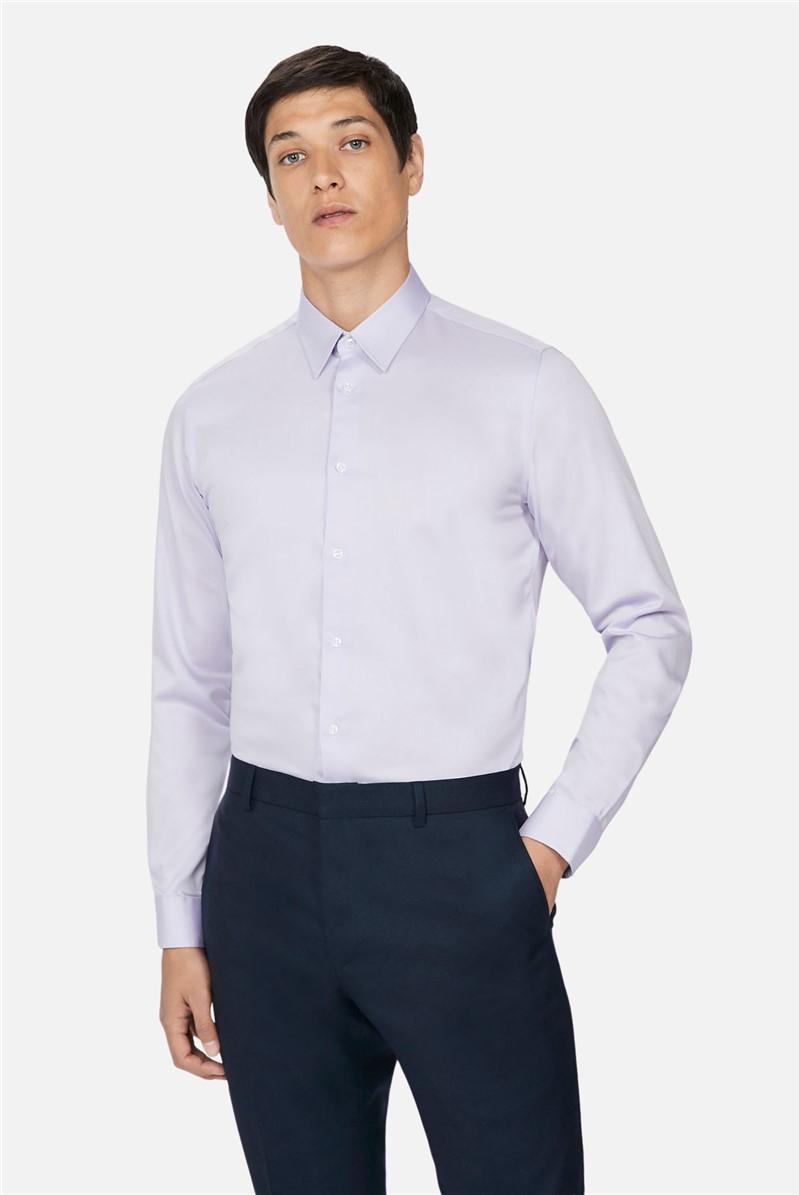 Lilac Sateen Slim Fit Shirt