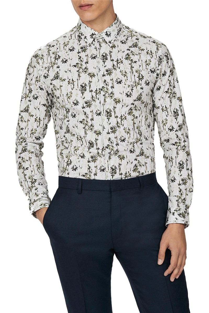 Forest Print Slim Fit Shirt