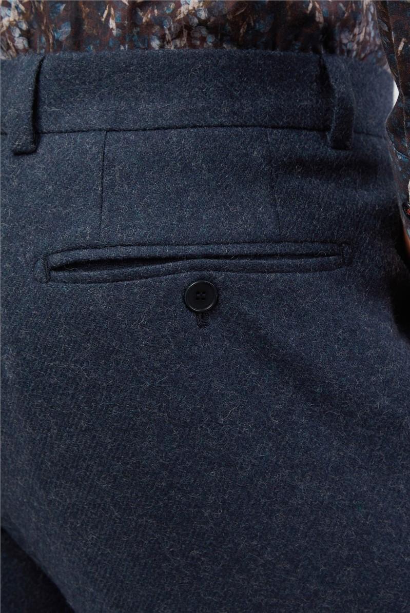 Teal Tweed Suit Trousers