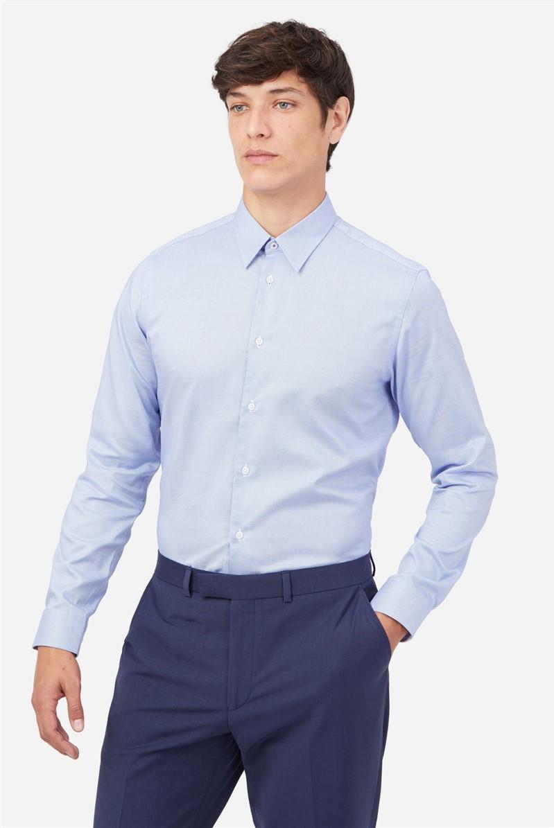 Blue Semi Plain Shirt