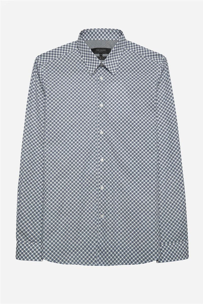Navy White Star Print Shirt