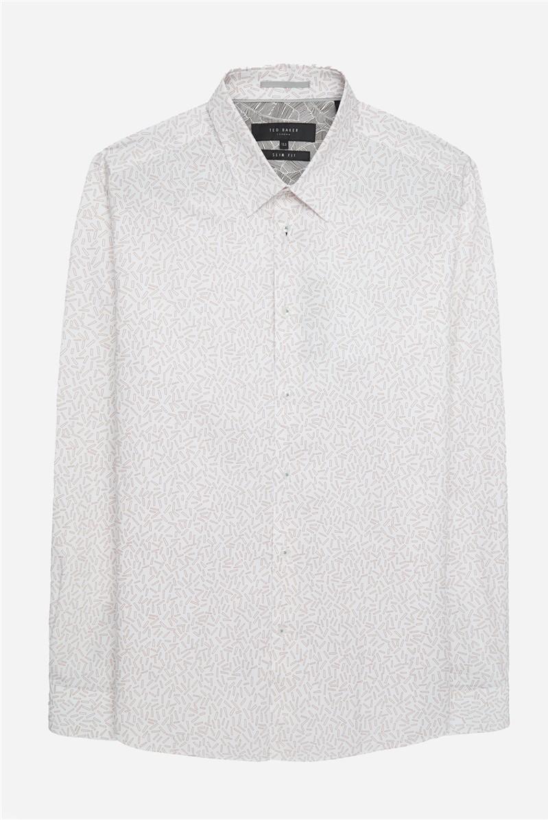 White & Rose Strand Print Shirt