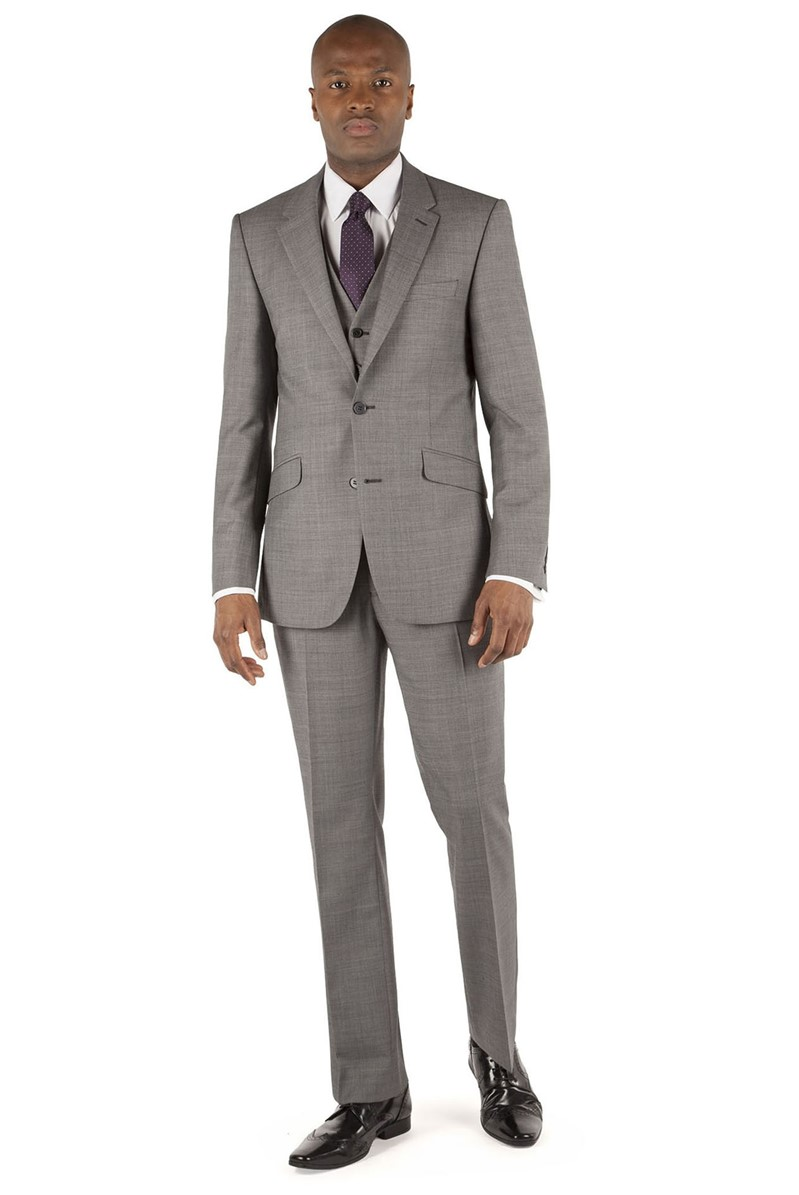 Grey Pick & Pick Tailored Fit Suit