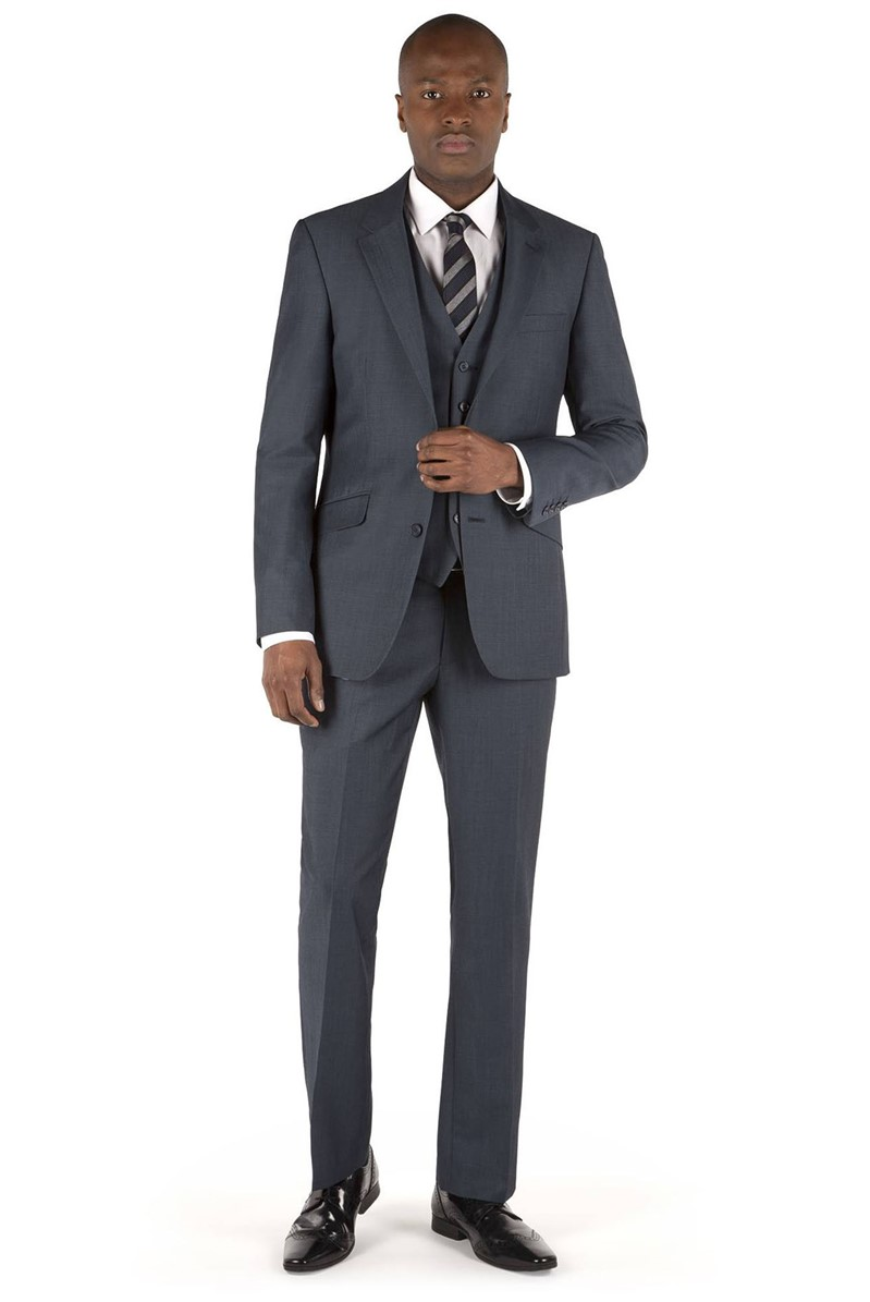Airforce Blue Twill Tailored Fit Suit
