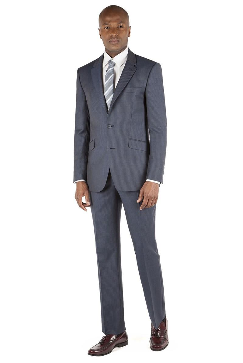 Blue Stripe Tailored Fit Suit