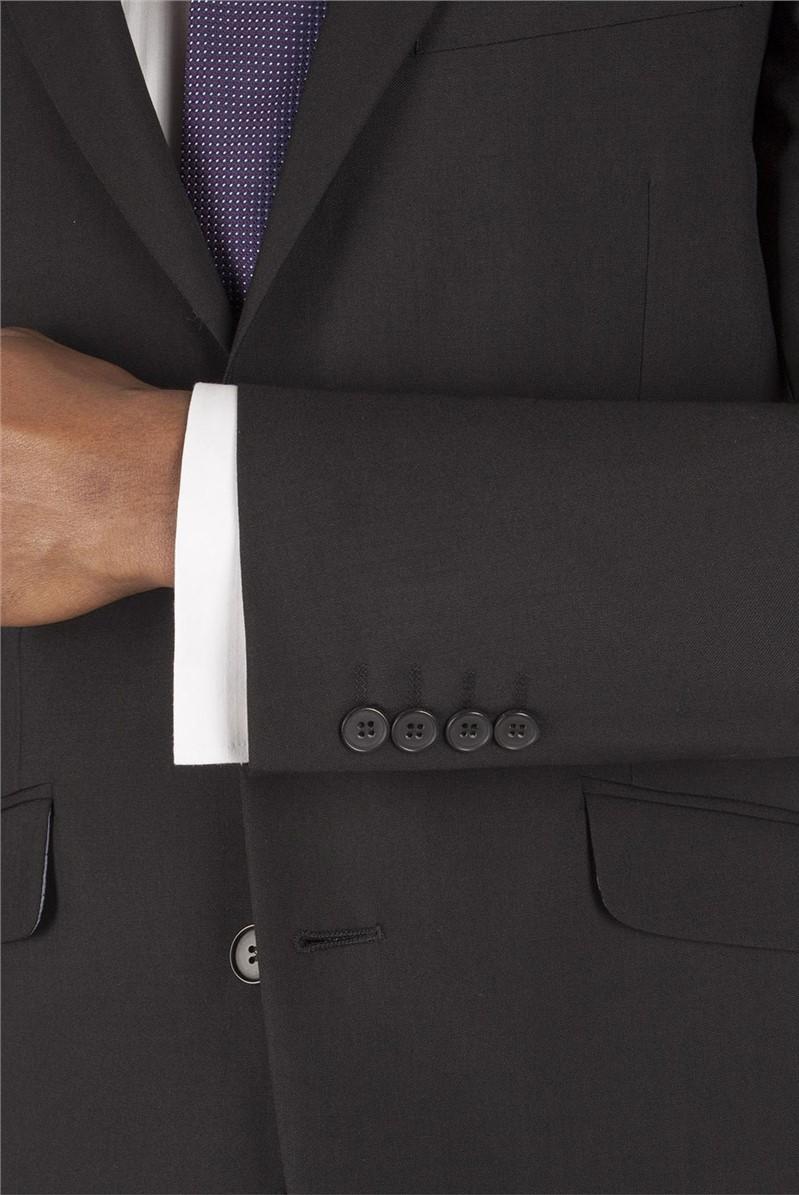 Black Panama Tailored Fit Suit Jacket