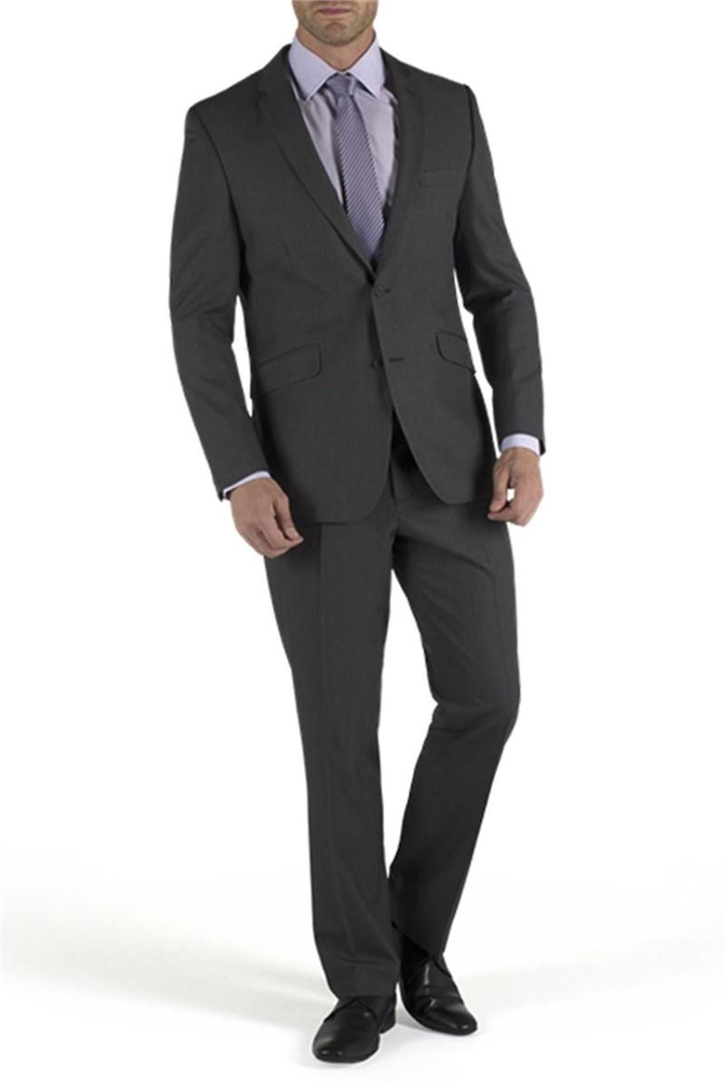 Grey Stripe Regular Fit Suit Jacket