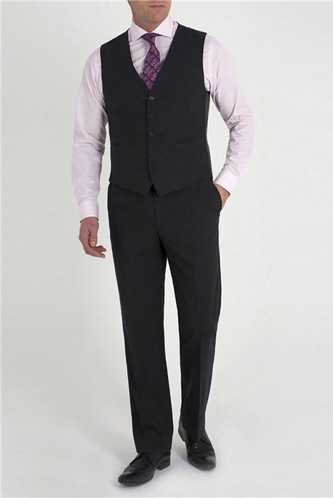 Jeff Banks Charcoal Plain Black Label Travel Waistcoat
