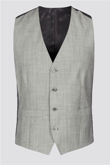 Burtons Plain Grey Waistcoat
