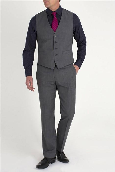 Jeff Banks Grey Pick and Pick Black Label Waistcoat