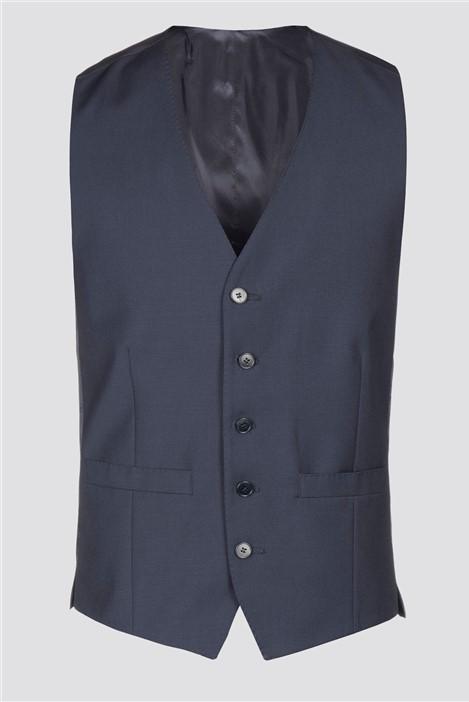 Alexandre Silver Label Alexandre of England Plain Blue Waistcoat