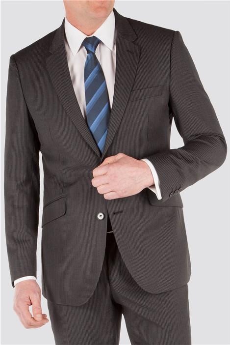 Karl Jackson Grey Narrow Stripe Suit Jacket