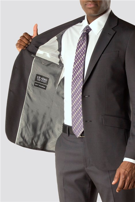 Stvdio by Jeff Banks Charcoal Tonic Tailoring Suit