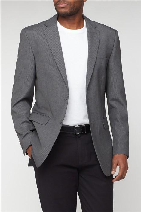 Thomas Nash Grey Narrow Stripe Regular Fit Suit Jacket