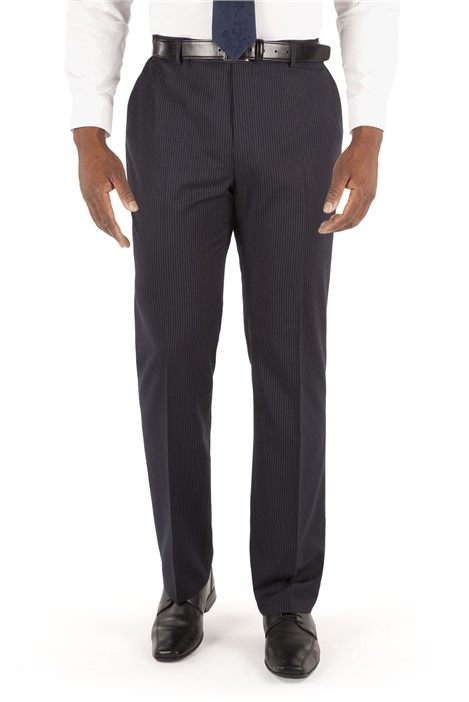 Centaur Big+Tall Navy Stripe Suit Trousers