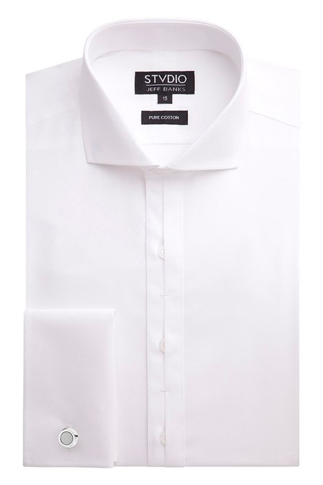 Stvdio White Poplin Slim Fit Shirt
