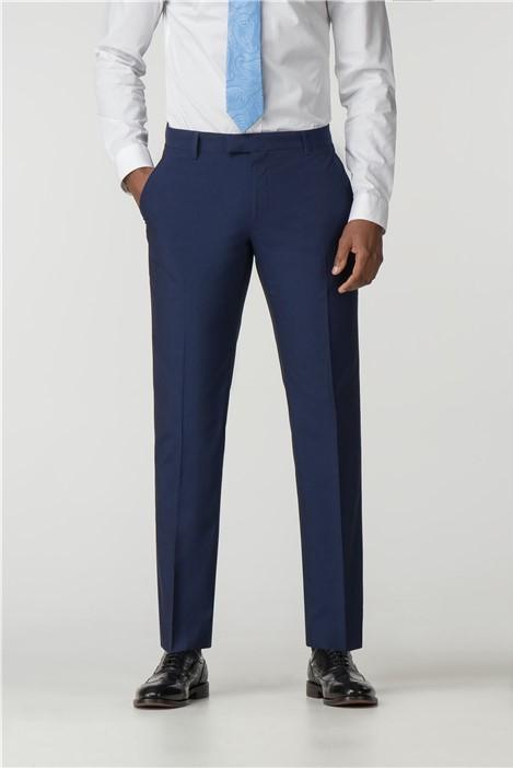 Occasions Blue Plain Regular Fit Suit Trouser