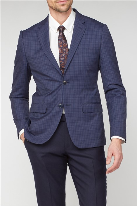 Alexandre of England Blue Check Tailored Jacket