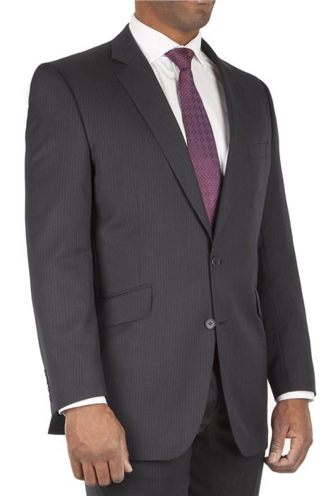 British Tailor Big+Tall Navy Stripe Regular Fit Suit