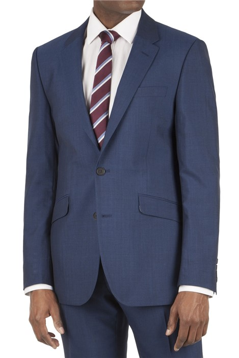Tom English Blue Panama Tailored Fit Suit