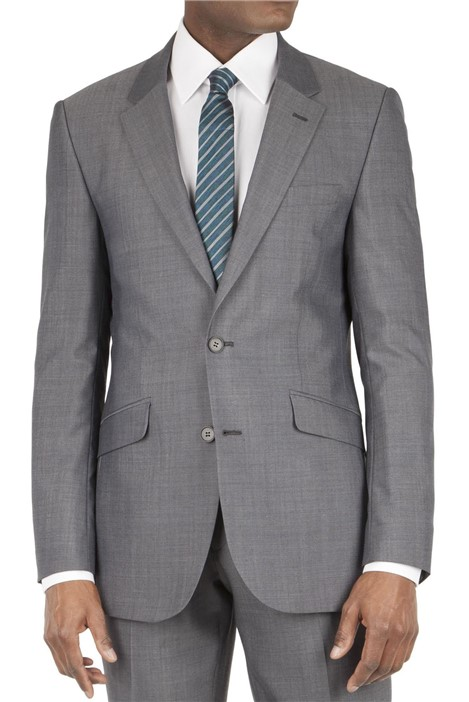 Tom English Grey Panama Tailored Fit Suit