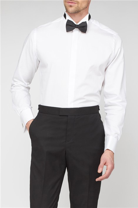 Jeff Banks Stvdio Fly Front Wing Collar Shirt and Bow Tie Set