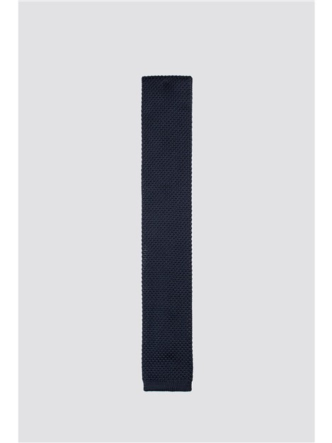 Limehaus Navy Knitted Tie