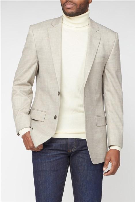 Pierre Cardin Stone Light Flannel Suit Jacket