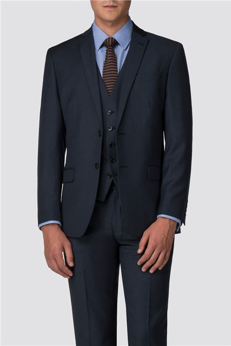 Racing Green Deep Blue Pick and Pick Tailored Suit