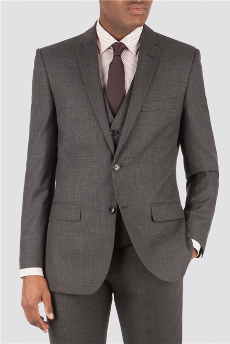Racing Green Charcoal Pick and Pick Tailored Suit