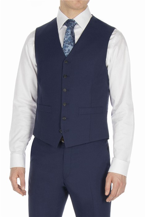 Studio Bright Blue Plain Ivy League Waistcoat