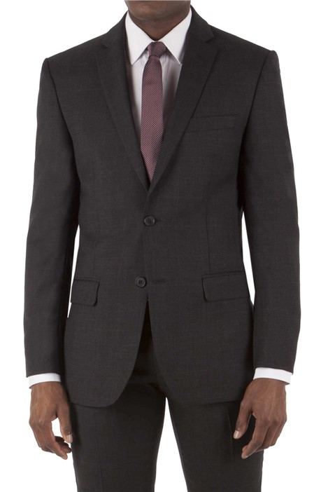 Tom English Charcoal Prince of Wales Check Tailored Fit Suit