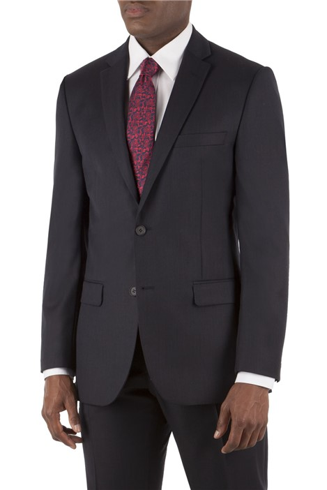Tom English True Navy Pick and Pick Tailored Fit Suit