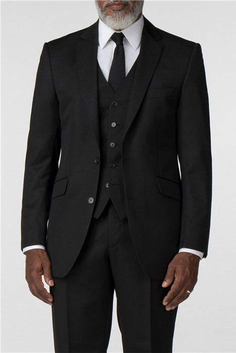 Pierre Cardin Performance Black Twill Regular Fit Suit