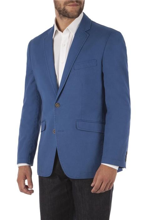 Aston & Gunn Blue Tailored Fit Linen Blend Jacket