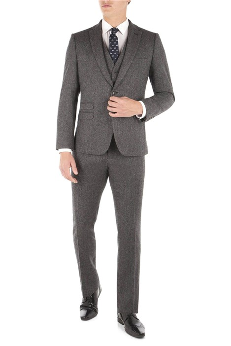 Ben Sherman Smoked Pearl British Tweed Camden Fit Suit