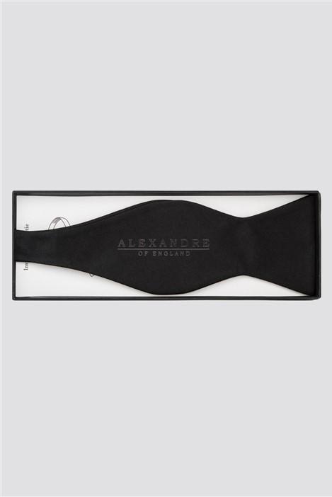 Alexandre Silver Label Alexandre of England Silver Label Black Pre-Tied Bow Tie
