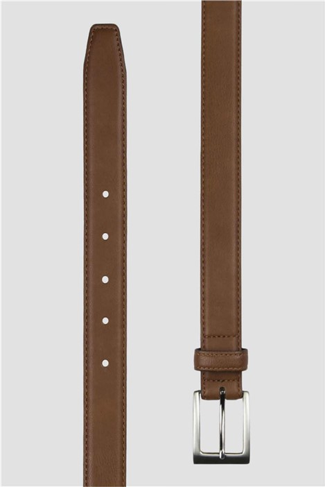 Scott & Taylor Tan Top Stitch Belt