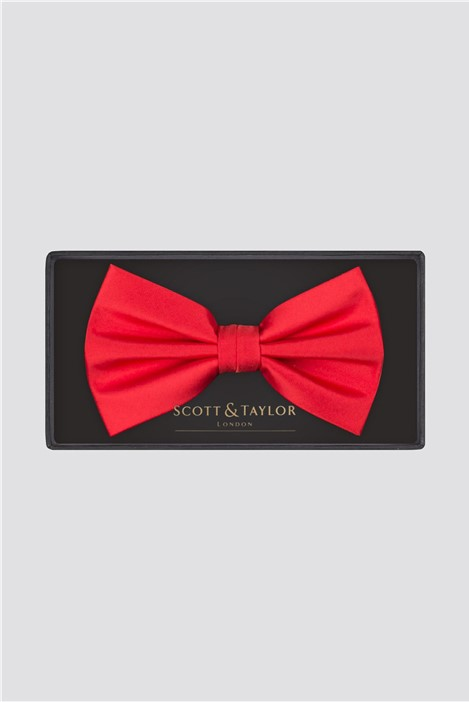 Scott & Taylor Red Bow Tie
