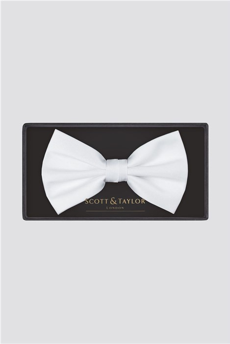 Scott & Taylor White Bow Tie