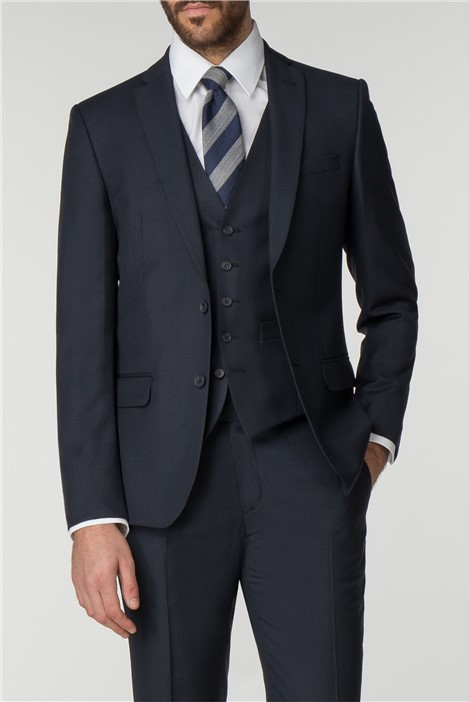 Racing Green Navy Pick & Pick Tailored Fit Suit