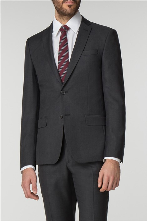 Racing Green Charcoal Pick & Pick Tailored Fit Suit