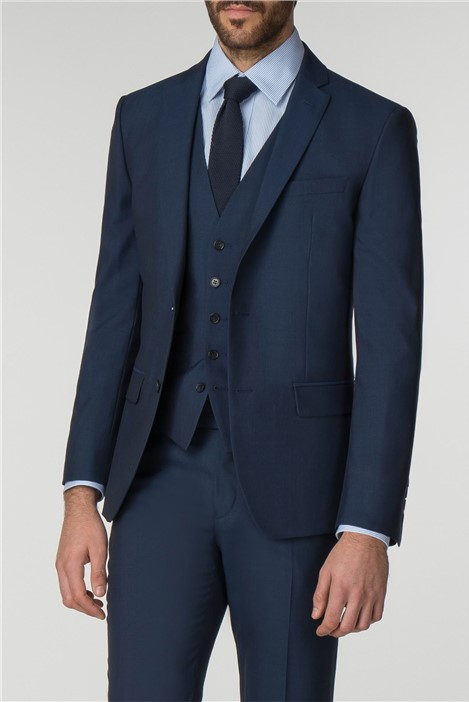Racing Green Bright Blue Panama Tailored Fit Suit
