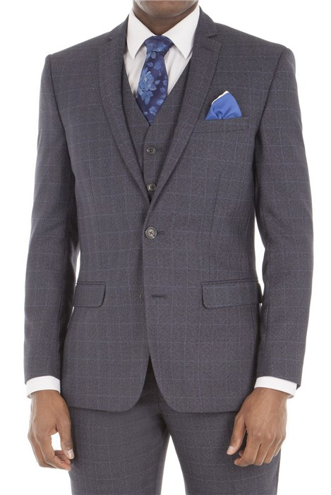 Aston & Gunn Grey Check Tailored Fit Suit