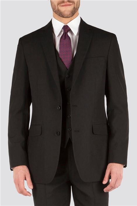 The Collection Black Plain Regular Fit Suit