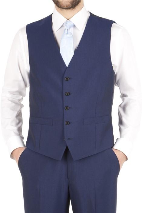 Scott & Taylor Blue Adjustable Fit Waistcoat