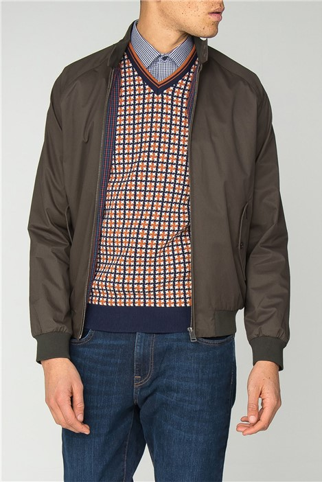 Ben Sherman Dark Green Harrington Jacket