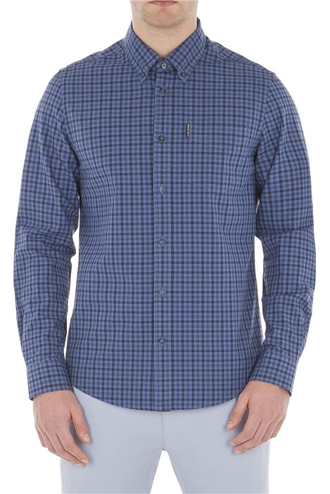 Ben Sherman Long Sleeve Blue Gingham Shirt