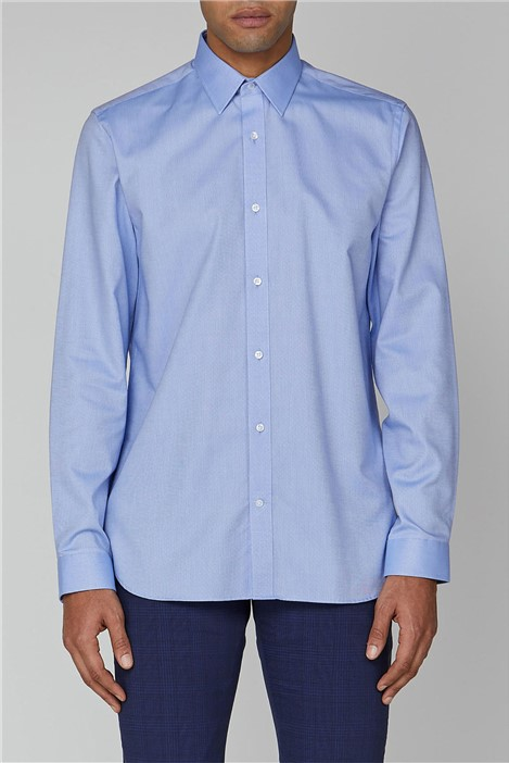 Ben Sherman Blue Plain Oxford Formal Shirt