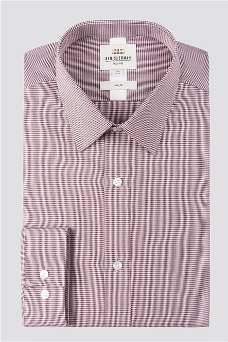 Ben Sherman Wine Oxford Formal Shirt